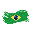 national flag of brazil designed using brush vector image