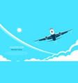 online flight booking banner design flat style vector image