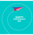 Paper plane with spiral Dash line independendence vector image vector image