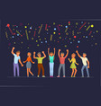 people dancing in flat design vector image vector image