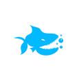 piranha logo vector image
