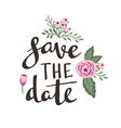 Poster template - save the date Wedding marriage vector image vector image