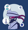 privacy police design vector image