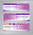 purple pink banner design web header template vector image vector image