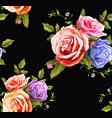 realistic rose bouquet seamless pattern vector image