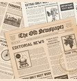 realistic vintage papers background vector image vector image