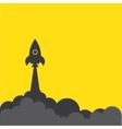 rocket and cloud flat style isolated vector image