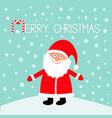 santa claus wearing red hat costume big beard vector image vector image