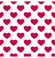 seamless pattern with red hearts on white vector image
