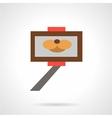 Selfie stick simple flat icon vector image