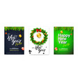 set holiday posters for happy new year events vector image vector image