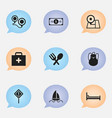 set of 9 editable journey icons includes symbols vector image vector image