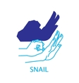 Shadow Hand Puppet Snail vector image