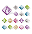 simple online shop and web site icons vector image vector image