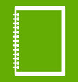 sketchbook icon green vector image vector image