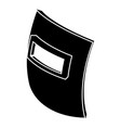 square welding mask icon simple black style vector image vector image
