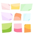 Sticky notes Stationery clip vector image vector image