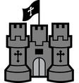 stone castle icon graphic vector image vector image