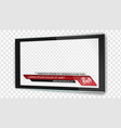 tv flat screen lcd with news bars or lower third vector image vector image