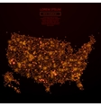 USA map low poly red fire vector image vector image