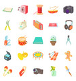 video hobby icons set cartoon style vector image vector image