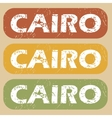 Vintage Cairo stamp set vector image vector image