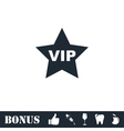 Vip star icon flat vector image