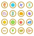 Virus set cartoon style vector image vector image