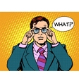 what surprised businessman vector image vector image