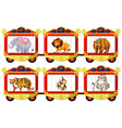 Wild animals in the circus cages vector image