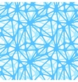 Blue neural net seamless pattern vector image
