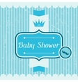 Boy baby shower invitation card vector image