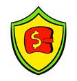 insurance money icon cartoon vector image