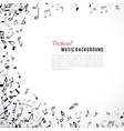 Abstract musical frame and border with black notes vector image