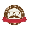 accesory hipster style face vector image vector image