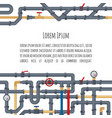background with tubes and pipelines on white vector image vector image