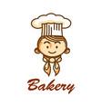 bakery shop logo vector image vector image