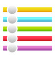banners buttons with circles for messages with vector image vector image