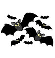 bats silhouettes vector image vector image
