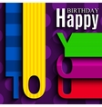 birthday card with wishes text in style of vector image vector image