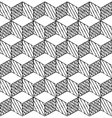 Black and white cubes puzzle seamless pattern
