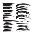 brush strokes ink black painting - creative set d vector image