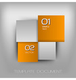 business four squares orange II with text vector image vector image