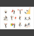 businessman working out in gym metaphor of vector image vector image