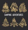 camping firewood vintage adventure outdoor logo vector image