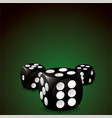 casino dice vector image vector image