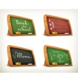 Chalkboards school sport menu vector image