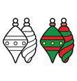 christmas toys icon on white background vector image