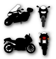 Collection of Motorcycle Silhouettes vector image vector image