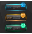 colorful glowing glass infographics vector image vector image